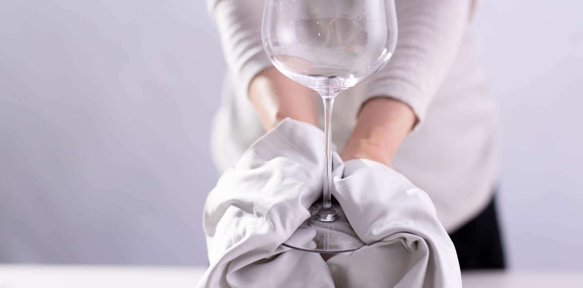 グラスの拭き方(磨き方)